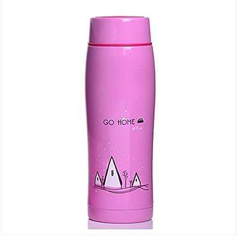 Haehne Home Série Flasques 304 Acier Inoxydable Boire Mode Cute Mini Mug Vacuum Cup Pot Bouteilles isothermes (250ML, Violet)