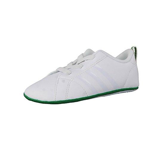 adidas Vs Advantage Crib, Scarpe da Ginnastica Unisex – Adulto Bianco (Ftwbla/Ftwbla/Verde)