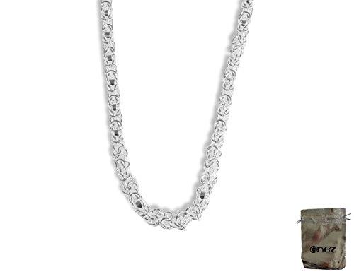 Enez Kette Halskette Gliederkette 925 Sterling Silber plattiert Länge 47cm + Geschenkbeutel D061b