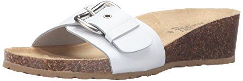 Easy Street Amico Damen Breit Leder Sandale White