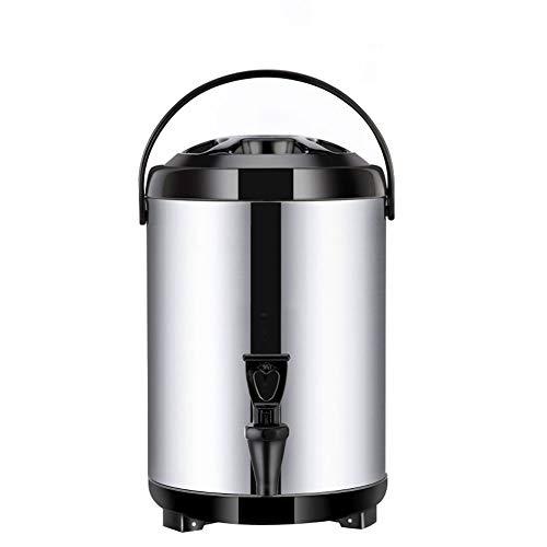 Edelstahl Heißwasserspender Wasserspender, 8L/10L/12L, Große Kapazität Thermoskanne Thermobehälter Kaffeekanne für Warmhalten von Glühwein, Wasser, Kaffee, Tee, Punsch, Milch, Hält Warm