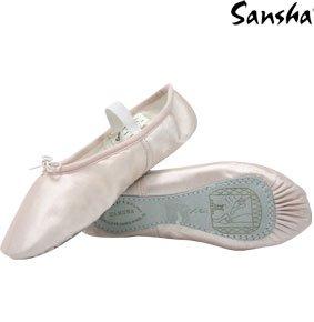 SANSHA 4S TUTU Chaussure de danse Demi-pointes pour Femme en Satin - Rose Anglais (223) - 37 EU (Taille Fabricant: