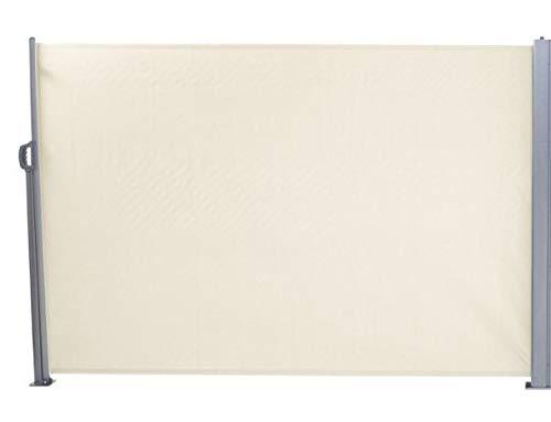 SORARA Das ORIGINAL Seitenmarkise Sichtschutz Windschutz | Creme/Grau | 160 x 300 cm 180 g/m² Polyester | 11 kg