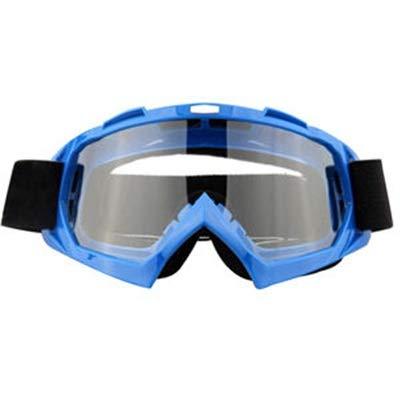 Gaodaweian Motorradbrillen Motocross Xinxun Sportbrillen Reitbrillen UV-Nebel-Schutz Winddicht Schutzbrillen für Outdoor Ski Snowmobile Fahrrad Motorrad (Color : Blau)