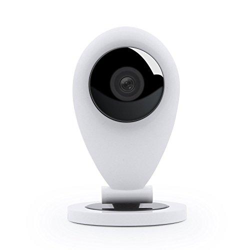Pawaca Wireless IP Kamera HD 720p für Smartphone P2P, Weitwinkel Objektiv 1 MP, Bewegungsmelder Camera Cam HD, MicroSD Speicher, Alarm, Android/iOS, Überwachungskamera Sicherheitskamera für Baby Care, Pet Care, Büro, Hause Usw Pet-cams