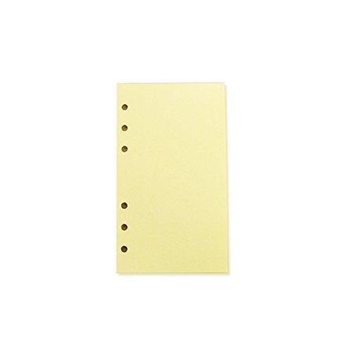 zhouba 40Blatt A5/A6Filler Papier loseblattwerken Notebook 6Löcher Büro Schulbedarf A6 Size gelb