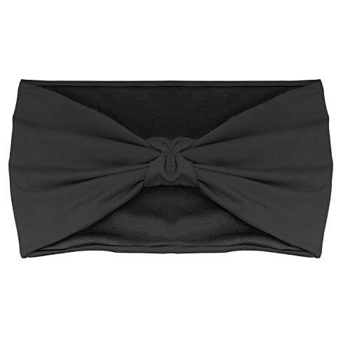MoKo Multifunktionstuch Stirnband Headband für Damen und Herrn - Leicht Nahtlos Schweißband Kopftuch Schlauchschal Halstuch Haarband Totenkopf für Fahrrad, Sport, Fitness, Laufen, Yoga, Schwarz -