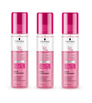 Schwarzkopf BC Bonacure Color Freeze Spray Conditioner SET 3 x 200ml - Conditioner Spray Bc