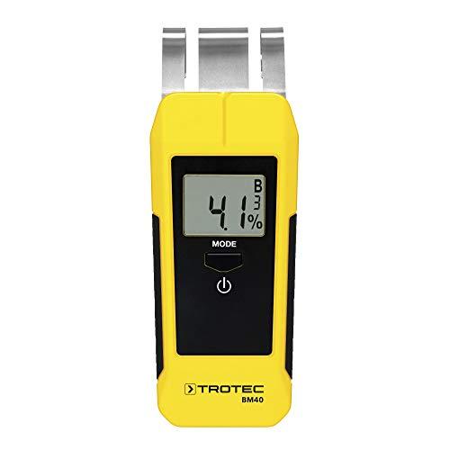 TROTEC BM40 Feuchteindikator (0-50mm) Feuchtemessgerät Holzfeuchtemessgerät Materialfeuchtemessg Prüfer für Feuchtemessung