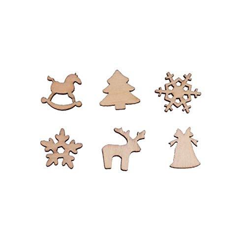 Kelsen 60 Stücke Holzscheiben Holz Log Scheiben für DIY Handwerk Holz-Scheiben Hochzeit Mittelstücke Weihnachten Dekoration Baumscheibe ()