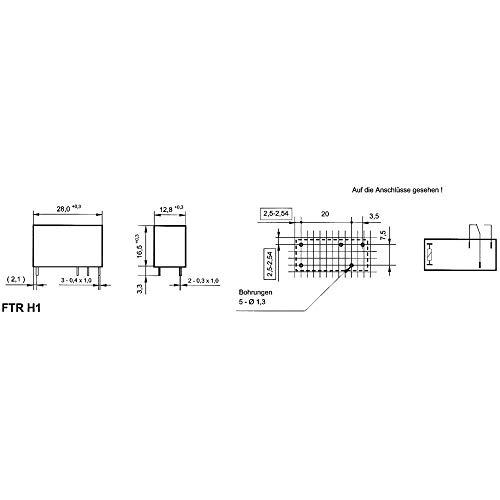 relais pour circuits imprim�s takamisawa ftr-h1 cd 024 24 v/dc 10 a