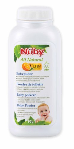 Nuby All Natural Babypuder Doppelpack, 2er Pack (2 x 90 g)