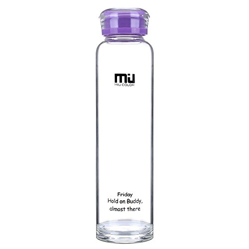 MIU COLOR – ® Botella de BPA libre 460 ml, botella de agua botel