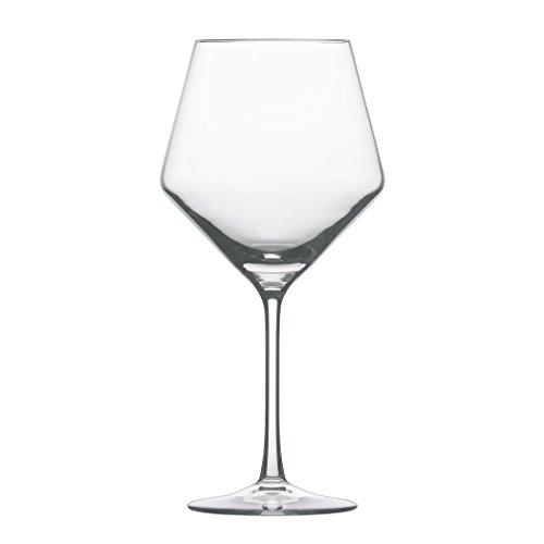 Schott Zwiesel 112421 Serie Pure 6-teiliges Burgunder Rotweinglas Set, Kristallglas
