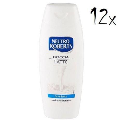Milch Feuchtigkeitsspendende Duschgel (12x Neutro Roberts Doccia latte Duschgel & Shampoo 2 in 1 250ml Milch Duschcreme)