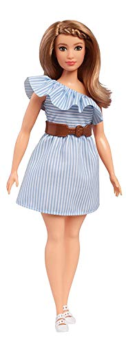 Barbie- Fashionistas Bmbola Righe Monospalla Uno Stile da Collezionare, FJF41