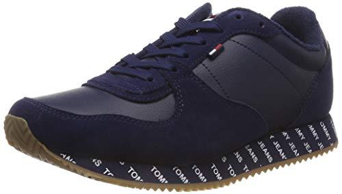 Casual Schuhe Jeans (Hilfiger Denim Damen Tommy Jeans Casual Sneaker, Blau (Black Iris 431), 38 EU)