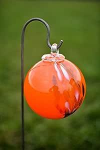 Handgemachte Garten Dekoration f/ür Ihren Garten Alle unsere Deko Garten Kugeln sind Winterfest Gardecor Rosenkugel auf Stab