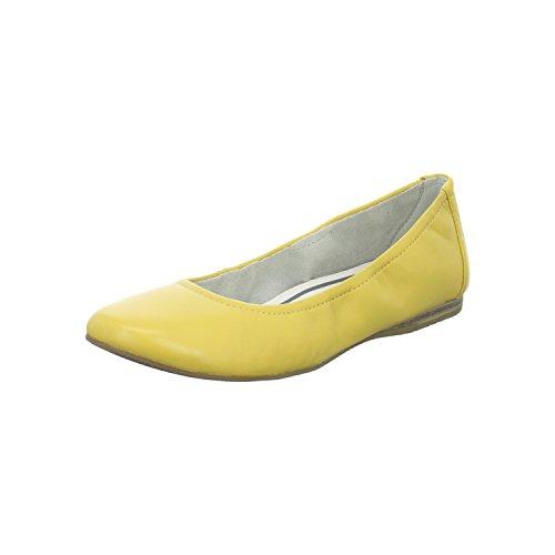 Tamaris Damen Ballerina Größe 40 Gelb (Gelb)