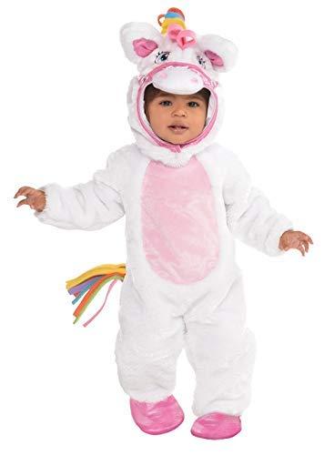 Baby Mädchen Kleinkind Hübsch Weiß Pink Rainbow Magische Mystisch Einhorn Pony Tier Flauschig Kostüm Kleid Outfit 0-3 Jahre - 12-24 Months (Kostüm Baby Pony)
