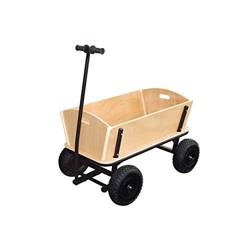 """small foot 9930 Bollerwagen \""""XXL\"""" aus Holz und Metall, auch für größere Einkäufe geeignet, mit Vollgummibereifung"""