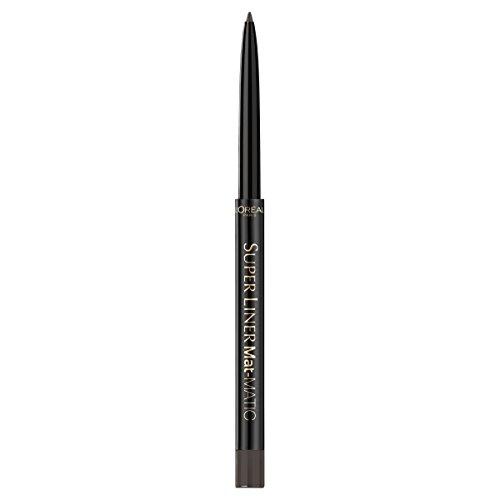 L'Oréal Paris Super Liner Mat Matic, Taupe Grey - präziser Eyeliner mit speziell angereicherten...