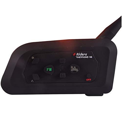 HLHD-Walkie talkie Waterproof 1200m v4 bt Multi interphone Bluetooth intercom wasserdichte fm Motorrad kopfhörer Helm Headset kommunikator 4 r Wireless Fm Wireless Intercom