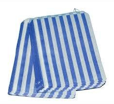 """Preisvergleich Produktbild 1000 x Bleu sacs de bonbons bande de Papier - 5 """"x 7""""-(125 175 x P) mm sans & sur tous les produits)"""
