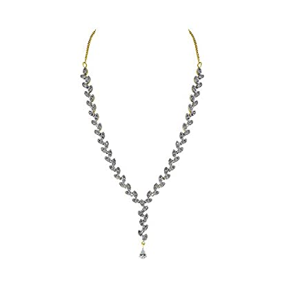 WHP Jewellers 18KT Yellow Gold, Diamond and White Topaz Necklace for Women