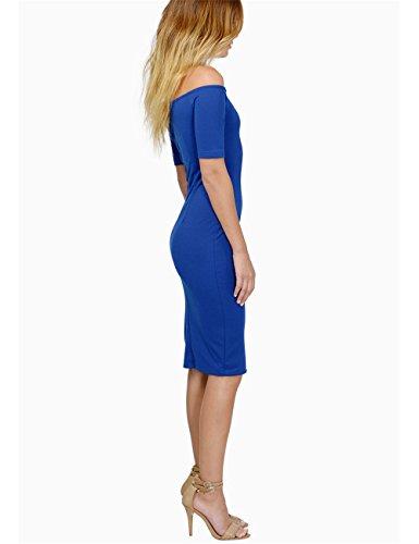 JOTHIN - Robe - Trapèze - Femme noir noir taille unique Bleu