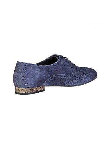 Pierre Cardin Femme Oxford Chaussures En Cuir Bleu