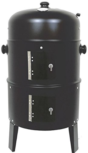 San Antonio 3 IN 1 Barbecue BBQ Charcoal Smoker + Grill - Great Cooker for Garden and Outdoors
