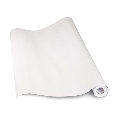 & KINLO 1 Rotolo Adesivo per Cucina 5M x 0.61M / Rotolo, PVC Adesivo Waterproof per Parete / Mobili / Vetro / Elettrodomestici / Cucina / Bagno, Antibatterico e Antivegetativo e Anti-umidità e Antistatico – Bianco confronta il prezzo online