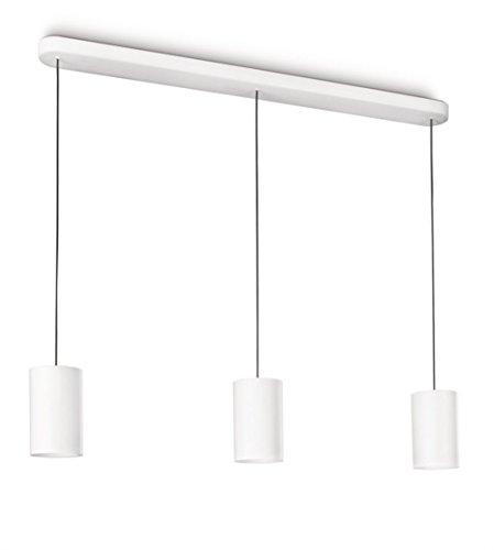 Lirio Tubound Höhenverstellbare Pendelleuchte, Aluminium, G53, weiß, 109 x 12.3 x 250 cm