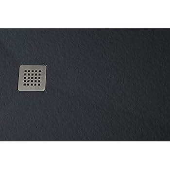 Receveur de douche en resine extraplat et antid/érapant 70x90 cm BLANC Livr/é avec vidage et grille de couleur