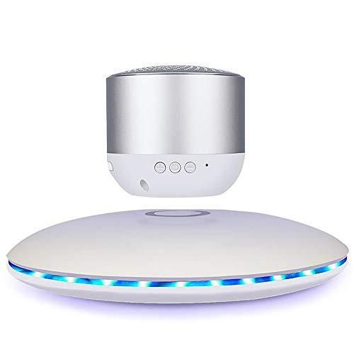 LIDAUTO Floating Wireless-Lautsprecher Tragbarer Bluetooth-Player Weihnachtsgeburtstagsgeschenk Kreatives Geschenk High-Definition-Anrufe,White