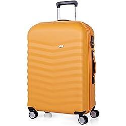 JASLEN - Maleta de Viaje Rígida 4 Ruedas Trolley 65 cm Mediana de ABS. Resistente y Ligera. Mango, 2 Asas y Candado TSA Integrado. Ideal para Estudiantes y Profesionales. 52660A, Color Mostaza