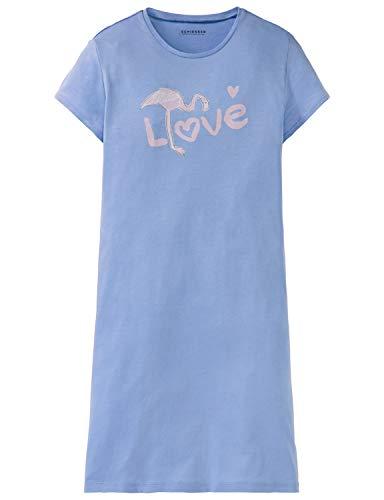 Schiesser Mädchen Sleepshirt 1/2 Nachthemd, Blau (Hellblau 805), 152 (Herstellergröße: S) -