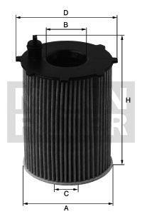Preisvergleich Produktbild MANN ÖLFILTER-Teilenummer: HU721/5X
