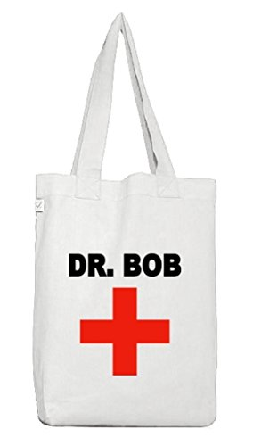 Karneval Fasching Arzt Ärzte Jutebeutel Tasche Earth Positive Dr. Bob White