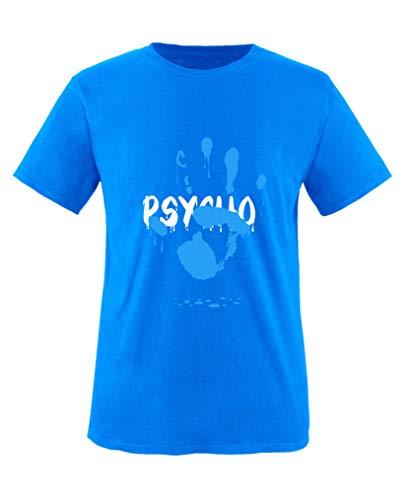 Comedy Shirts - Psycho Hand - Jungen T-Shirt - Royalblau/Weiss-Blau Gr. 152/164