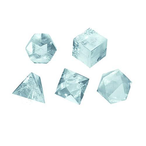 Körper-geschenk-set (Maulwurf - Geschenke aus der Natur 0503509121 Set platonische Körper Bergkristall groß, in Schachtel)