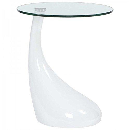 Paris Prix - Table D'appoint Design Music Blanche