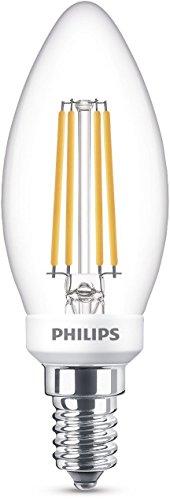Philips LEDclassic Lampe ersetzt 40W, E14, warmweiß (2700 Kelvin), 470 Lumen, Kerze, dimmbar