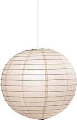 Lampenschirm -Japan-Kugel-, Ø 50cm, Papier cremeweiß (ohne Aufhängung) von SBPhilip - Lampenhans.de