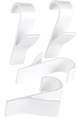 4 Stück Badezimmer Handtuchhalter (BAMODI Rundheizkörperhaken fürs Badezimmer – 4er Set Heizkörper Haken – viele Handtuecher aufhängen mit praktischen Rundheizkörper Haken)