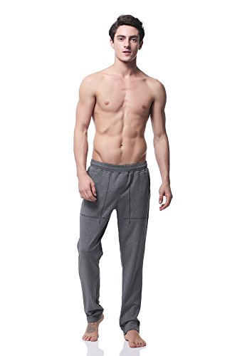 Pau1Hami1ton PH-20 Herren Aktiv Basic Casual Baumwolle Stretch Sweathose Workout Jogger Gym Running Sport Track hose Grau
