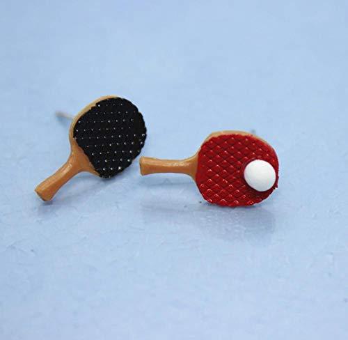 EFGK Retro Böhmische Ethnischen Stil Elegant Ohrringelustige Tischtennisschläger Asymmetrische Ohrringe Damenmode Handgefertigt Persönlichkeit Schmuck Kreativität Geburtstagsgeschenke
