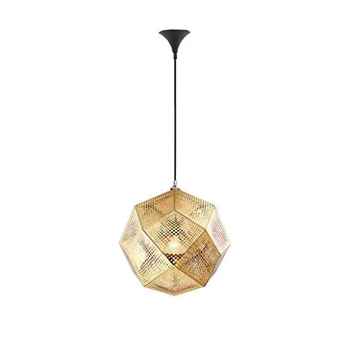 Nordic Kreative Geometrische Box Gold Backstein Restaurant Kronleuchter Moderne Einfache Drei Kopf Tom Dixon Treppe Anhänger Schatten E27 (Size : 32 cm x 32 cm x 32 cm) -