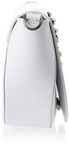 Chicca Borse 1533, Borsa a Spalla Donna, 20x17x7 cm (W x H x L) Bianco
